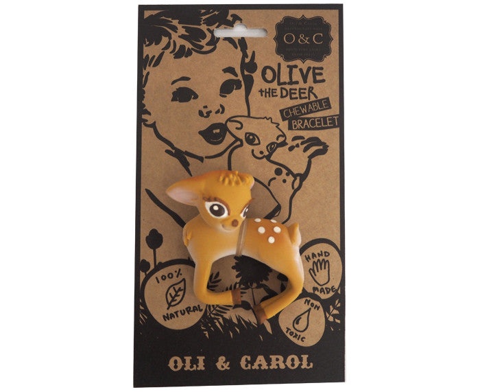 Olive the Deer Chewable Bracelet by Oli & Carol