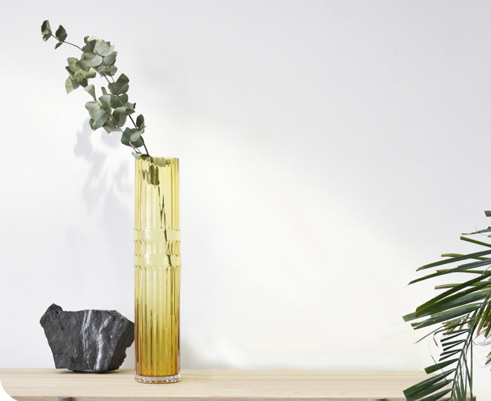 Ondin Glass Vase by Eno Studio tall yellow