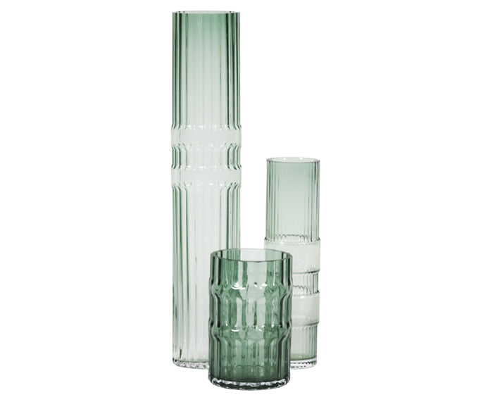 Ondin Glass Vases by Eno Studio group in green