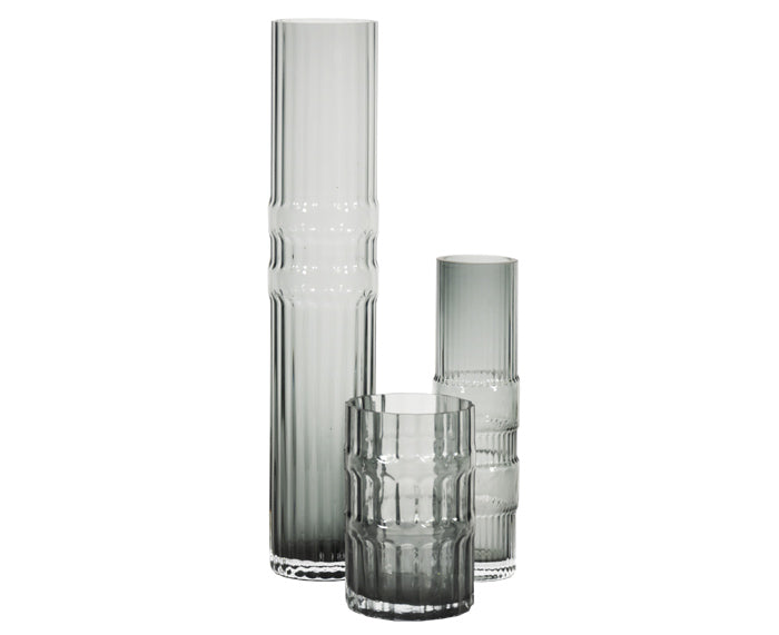 Ondin Glass Vases by Eno Studio group in gray