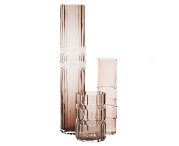 Ondin Glass Vases by Eno Studio group in pink
