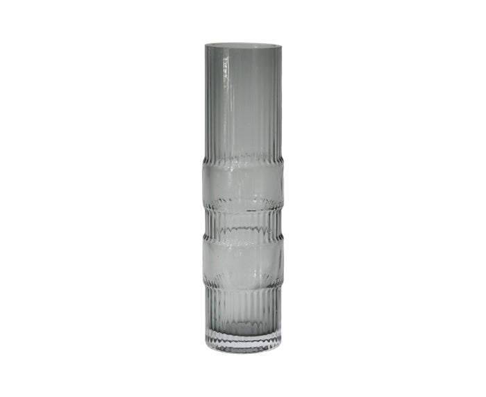 Ondin Glass Vase, Medium, by Eno Studio in gray