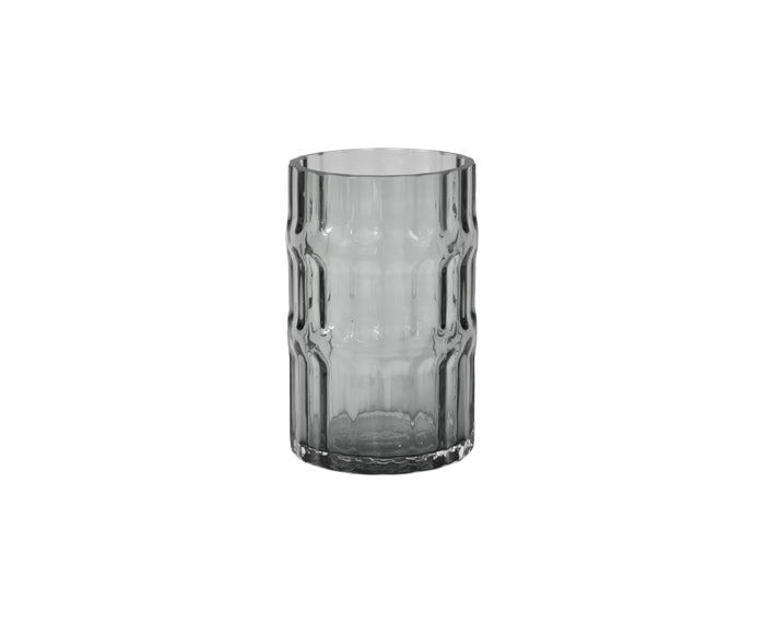 Ondin Glass Vase, short, in gray by Eno Studio