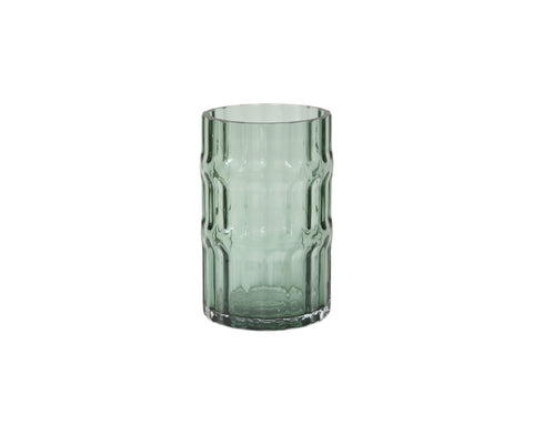Ondin Glass Vase, short, in green by Eno Studio