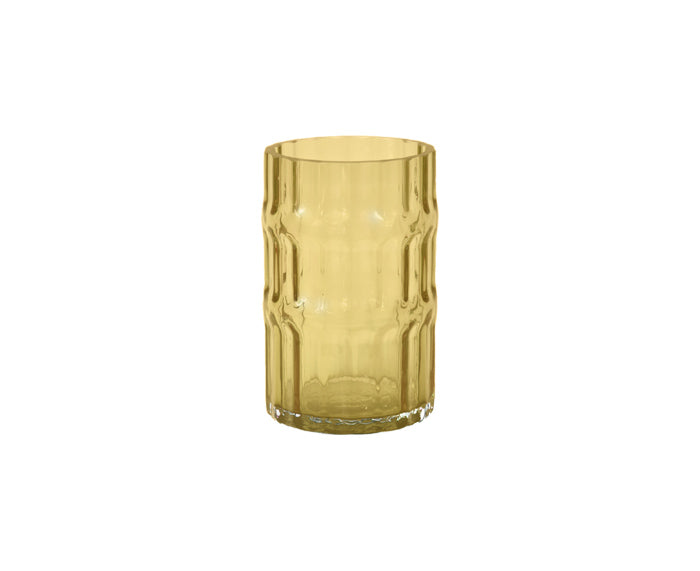 Ondin Glass Vase, short, in yellow by Eno Studio