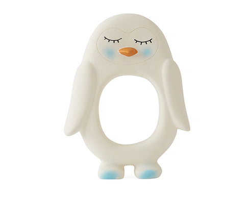 Penguin Teether in White by Oyoy Living Design