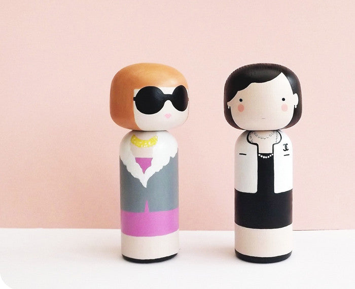 Coco and Anna Kokeshi Dolls by Sketchinc.