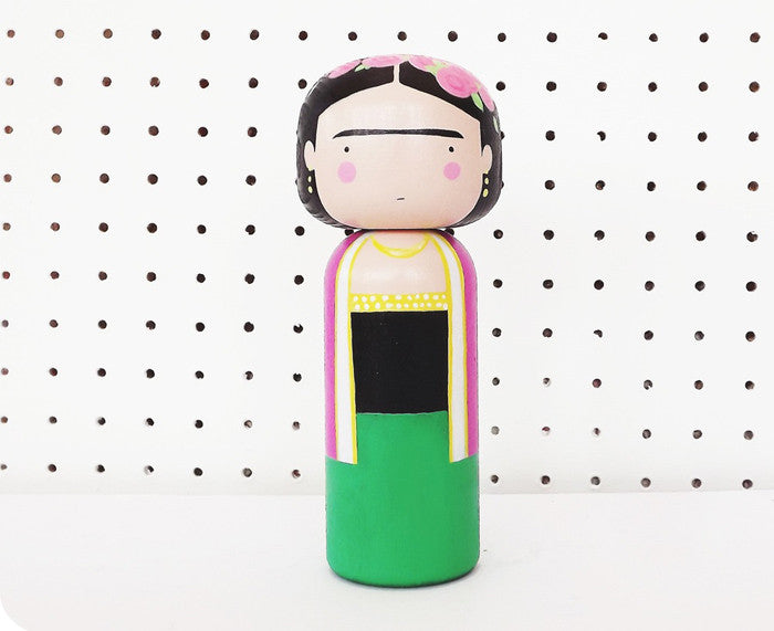 Frida Kokeshi Doll by Sketchinc.