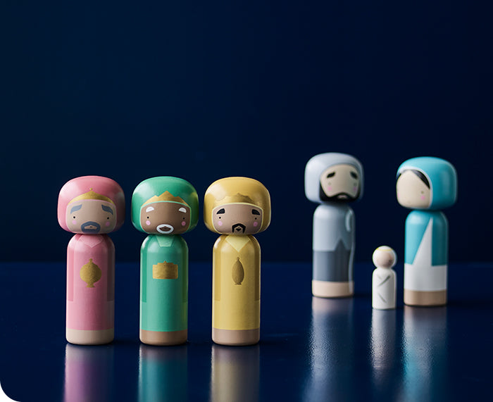 Wise Men Kokeshi Doll Set by Sketch.inc for Lucie Kaas