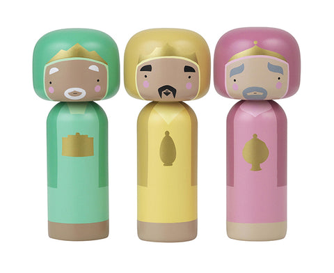 Wise Men Kokeshi Doll Set by Sketch.inc
