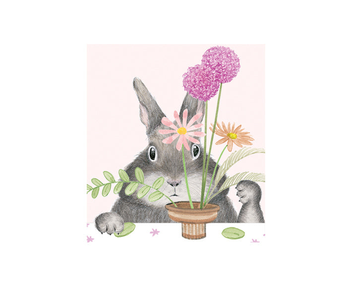 Bunny with Flowers Mother's Day Card by Dear Hancock