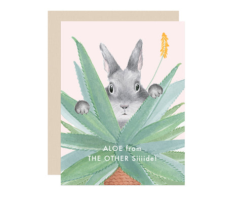 Aloe From the Other Side Bunny Card by Dear Hancock