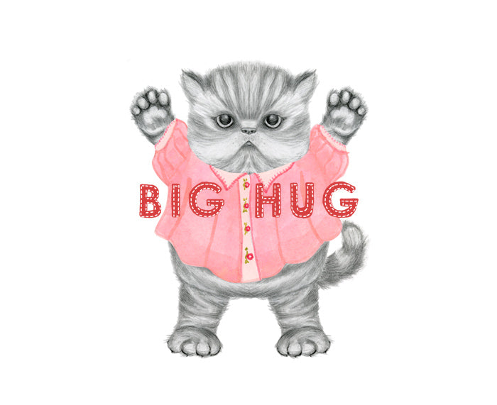 Big Hug Kitten Card by Dear Hancock