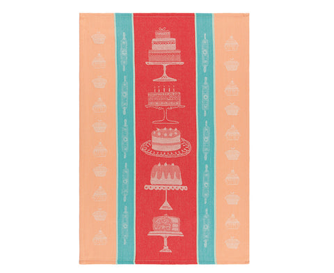Cake Walk Dish Towel by Danica Studio