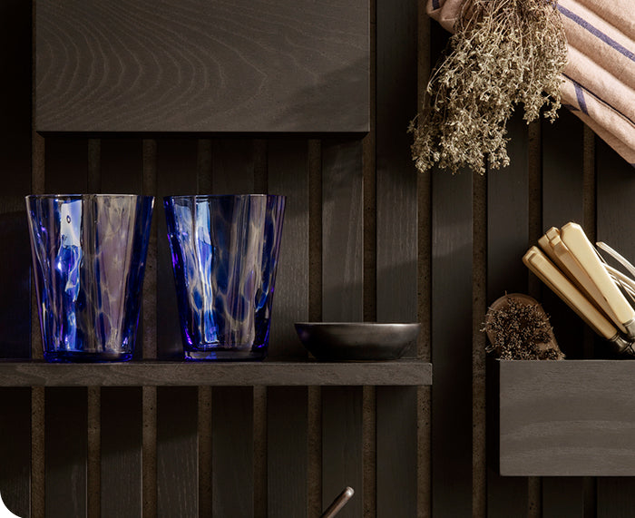 Casca Glass in Blue by Ferm Living