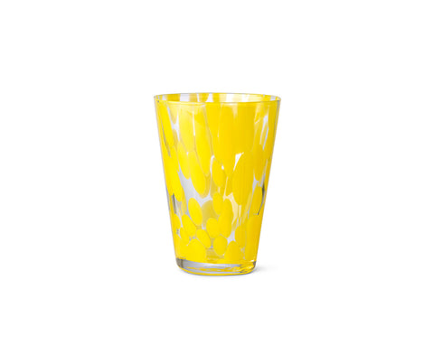 Casca Glass in Yellow by Ferm Living