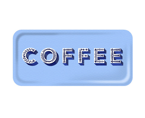 Word Rectangular Tray - Coffee - by Jamida