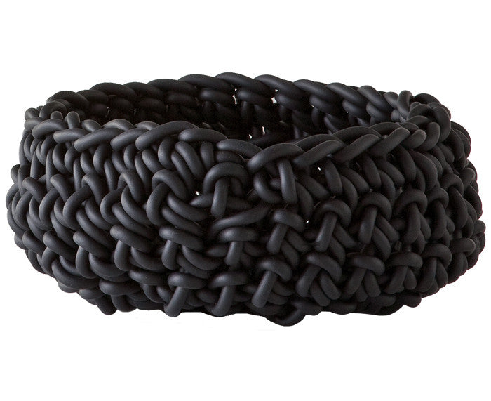 Rubber Crocheted Bowl - Large - by Neo in black