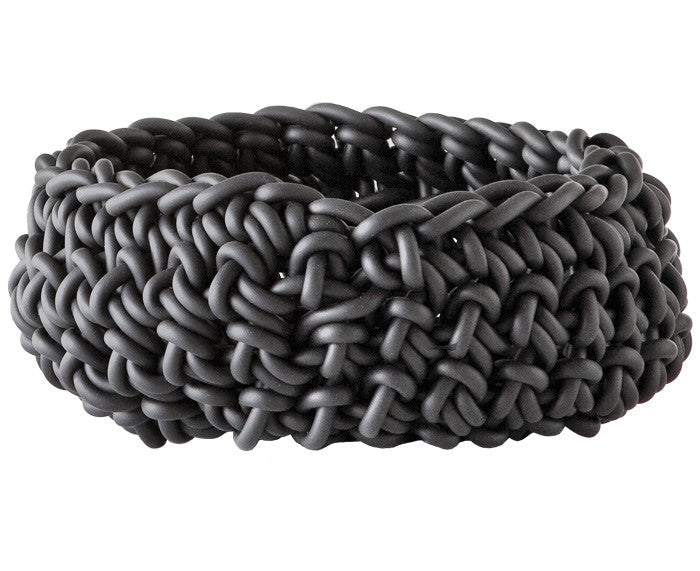 Rubber Crocheted Bowl - Large - by Neo in gray
