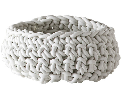 Rubber Crocheted Bowl - Large - by Neo in white