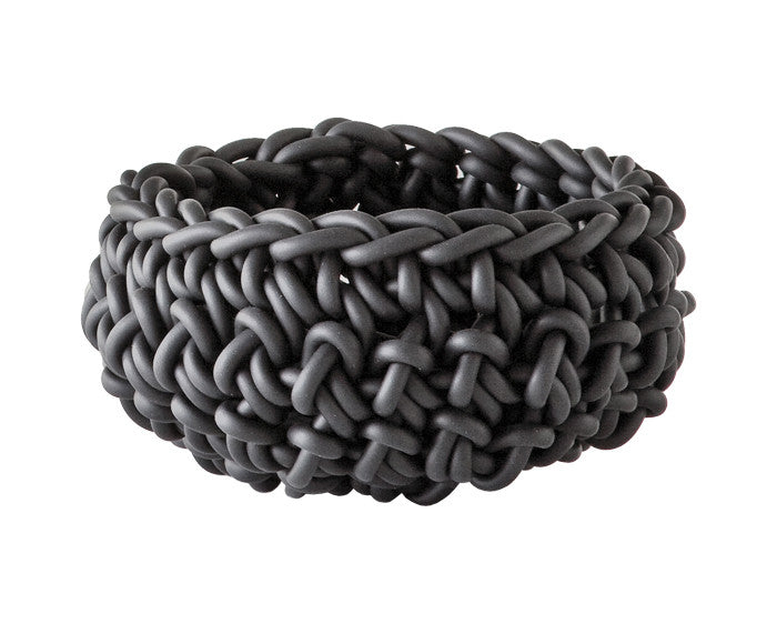Rubber Crocheted Bowl in gray - Medium - by Neo