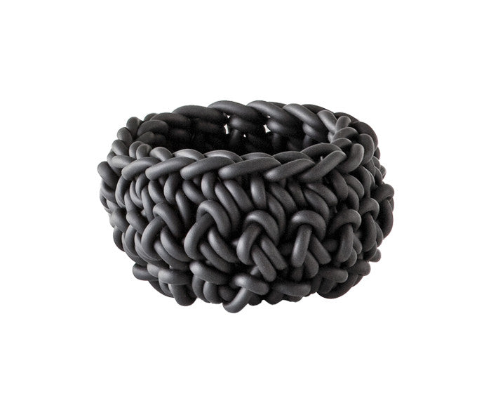 Rubber Crocheted Bowl in gray - Small - by Neo