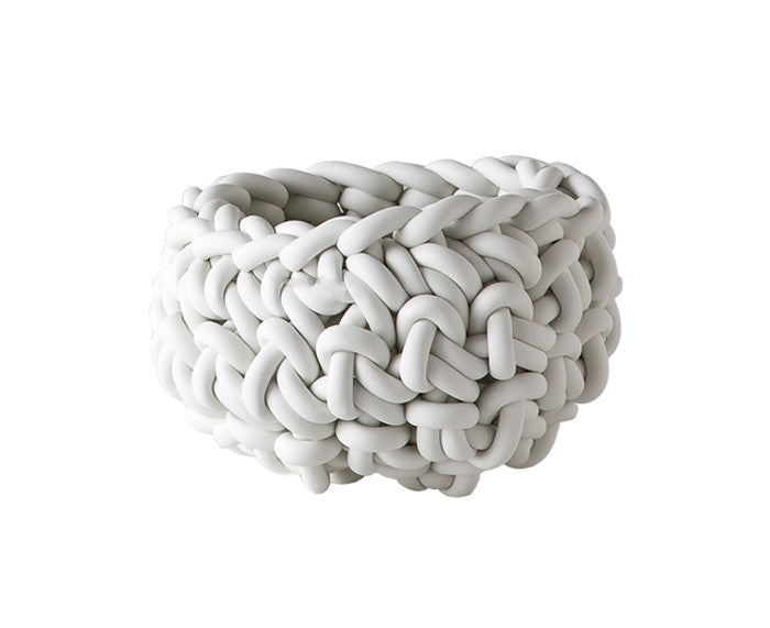 Rubber Crocheted Bowl in white - Small - by Neo