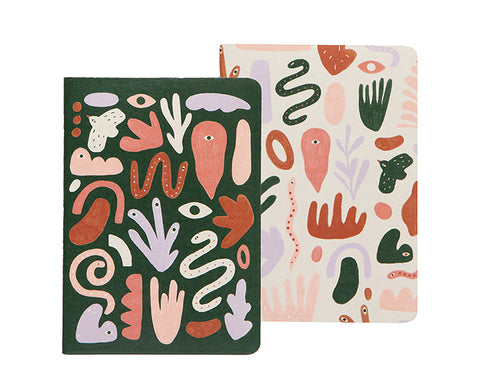 Curio Set of Two Notebooks by Danica Studio