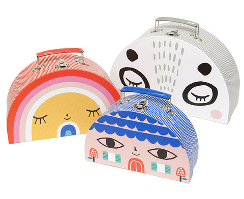 Double Face Suitcase Set by Petit Monkey