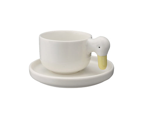 Ahiru Duck Cup and Saucer by Ceramic Japan