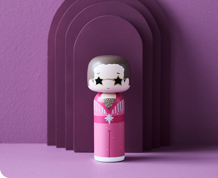 Elton John in Pink Kokeshi Doll by Sketch.inc for Lucie Kaas