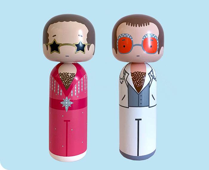 Elton John Kokeshi Dolls by Sketch.inc for Lucie Kaas