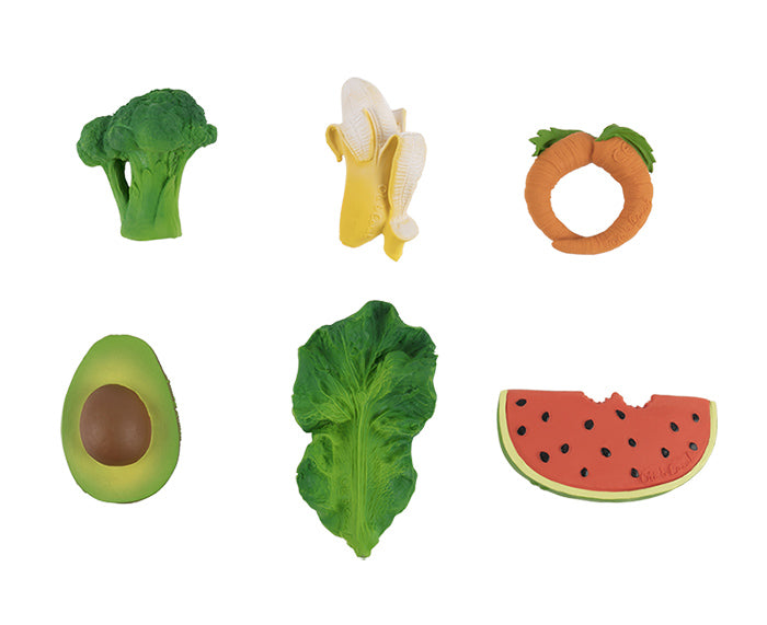 Fruit and vegetable chewable toys