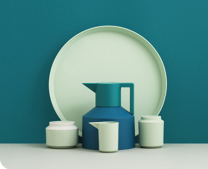 Geo Tray in Mint by Normann Copenhagen