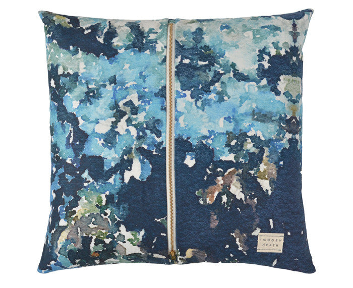 Sophy Floral Pillow in teal by Imogen Heath