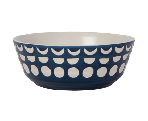 Imprint Ceramic Bowl in Ink by Danica Studio