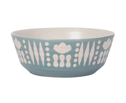 Imprint Ceramic Bowl in Light Blue by Danica Studio