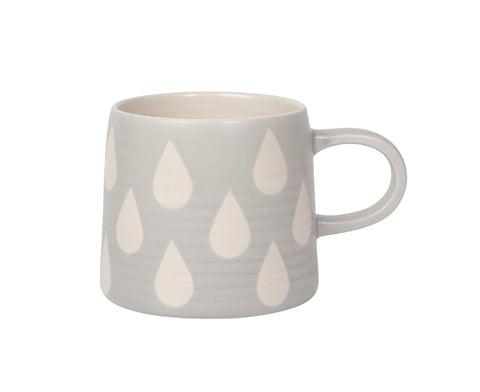 Imprint Ceramic Mug in Gray by Now Designs