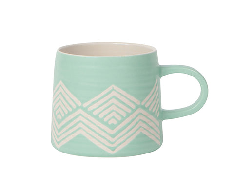 Imprint Ceramic Mug in Mint Green by Danica Studio