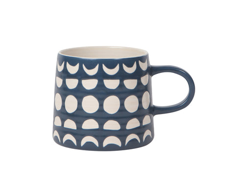 Imprint Ceramic Mug in Navy by Now Designs