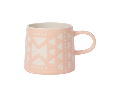Imprint Ceramic Mug in Pink