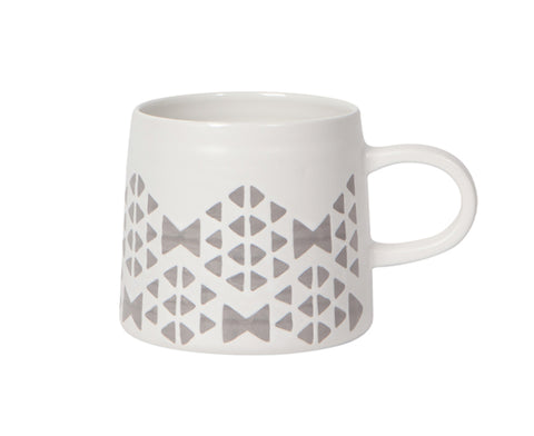 Imprint Ceramic Mug in White by Danica Studio