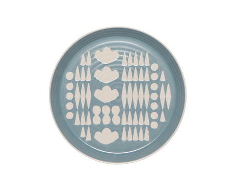 Imprint Ceramic Side Plate in Light Blue by Danica Studio