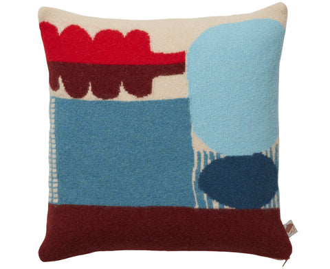 Koyo Pillow in Blue and Red by Donna Wilson