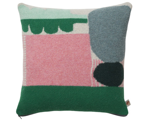 Koyo Pillow in Green and Pink by Donna Wilson