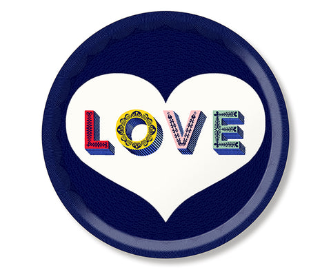 Word Round Tray - Love - by Jamida