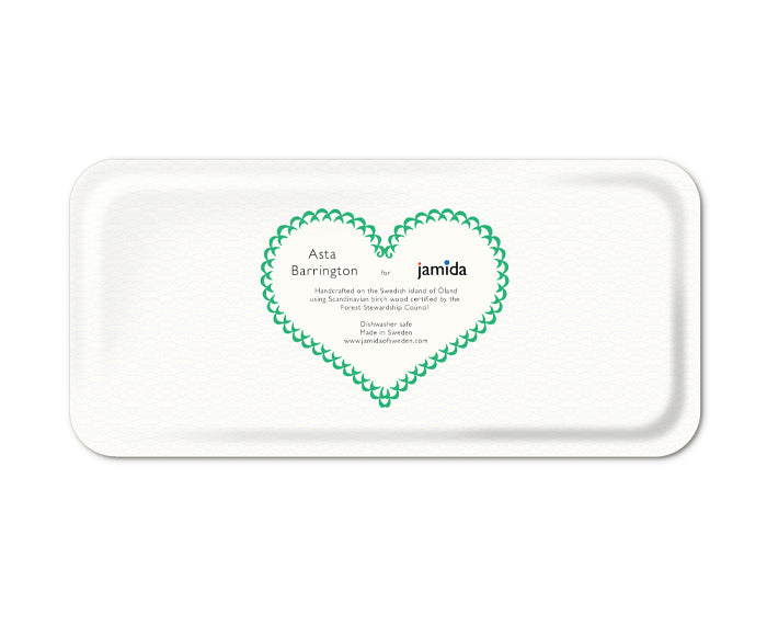 Word Rectangular Tray - Lucky - by Jamida