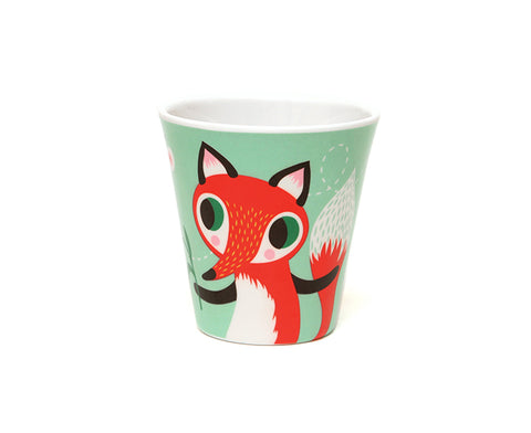 Mint Fox Melamine Cup by Petit Monkey