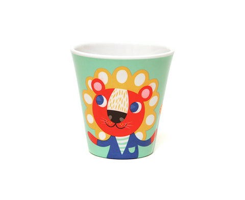 Mint Lion Melamine Cup by Petit Monkey