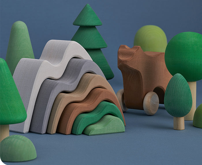 Mountains Stacking Toy by Raduga Grez